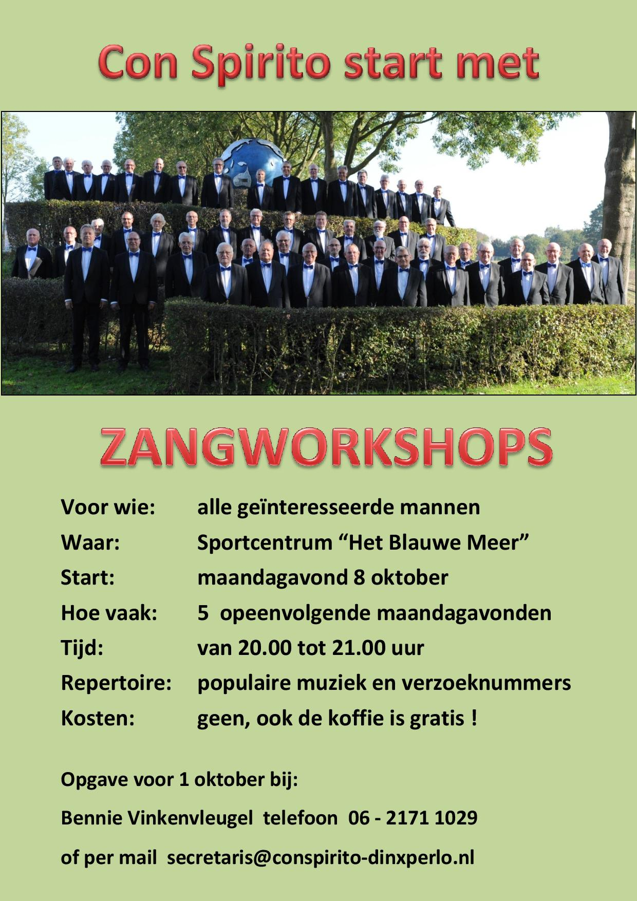 Zangworkshops